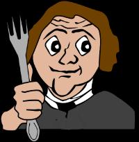 gebriuksvoorwerpen in je presentatie: vork